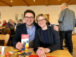Landratskandidat Peter Wein und Landesvorsitzende der BayernSPD Natascha Kohnen